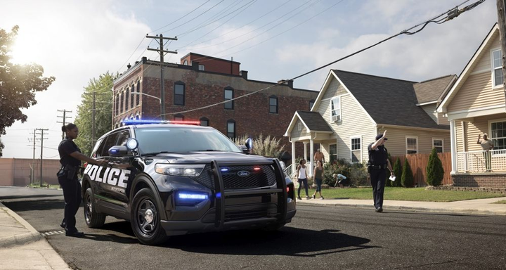 The 2020 Police Interceptor Utility hybrid come standard with all-wheel drive and is suited to urban and rural patrol.