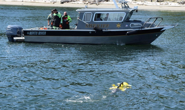 JW Fishers' ROVs can find evidence such as firearms or even bodies under water, protecting law enforcement dive teams from dangerous current and pollution.  - Photo courtesy of JW Fishers