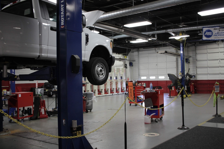 The fleet moved from a two-bay shop to a six-bay shop to better service larger buses and the increase in vehicles.  - Photo courtesy of Montclair State University