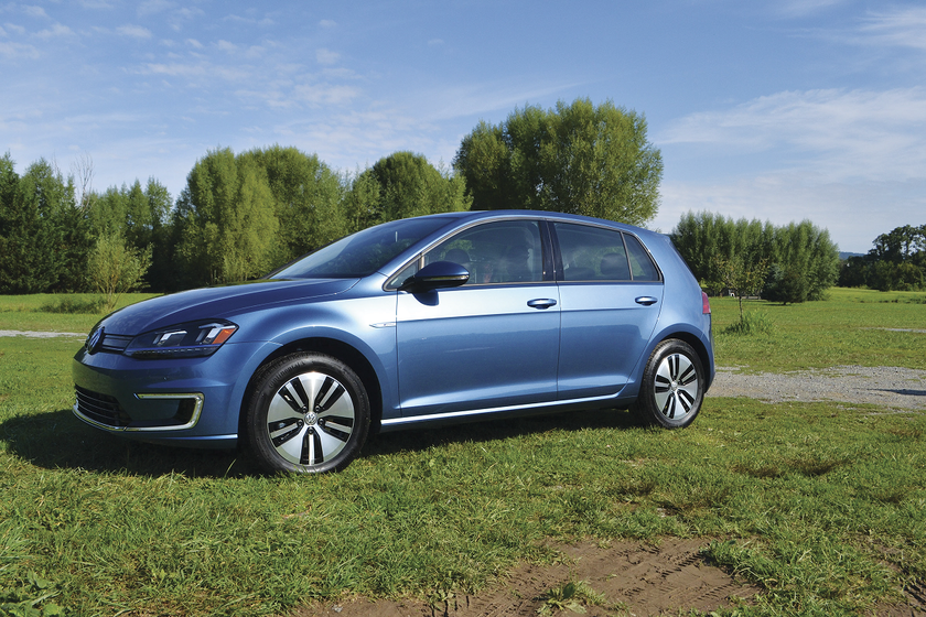 California state agencies can purchase vehicles such as the Volkswagen e-Golf battery-electric...