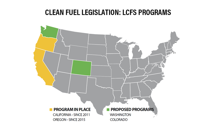 Clean Fuel Legislation: LCFS Programs Low-carbon fuel standard (LCFS) programs mandate the use of low-carbon fuels — alternative fuels that burn cleaner than fossil fuels, such as renewable diesel. The goal is to decrease carbon dioxide emissions from vehicles and reduce the carbon footprint of transportation. These standards require fleets to look for cleaner fuel solutions and can have an impact on pricing and availability in these areas. -