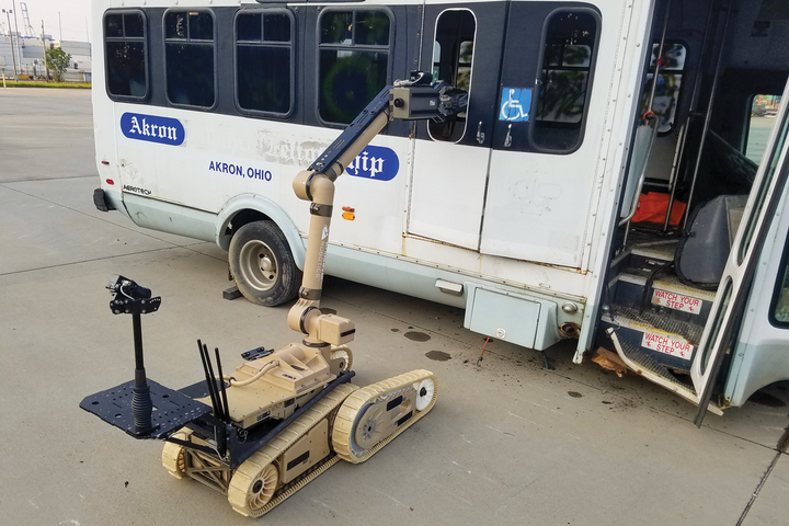 On average it takes about a day to get up and running with a robot. More complicated missions can require as much as five days of intensive training. Operating a robot is a perishable skill, so teams should train regularly to maintain proficiency. - Photo courtesy of FLIR Systems