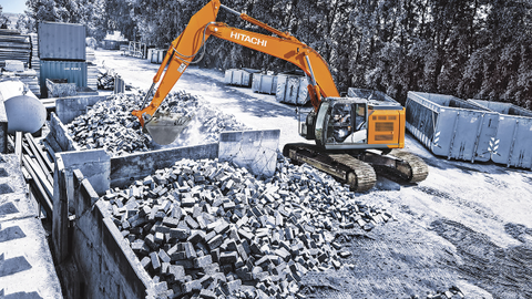 The tight-tail-swing radius of the company's newest excavator can help government operators...