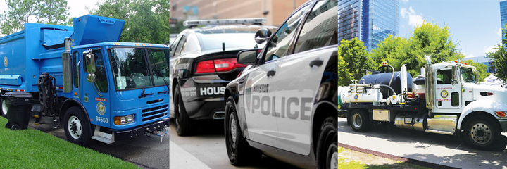 The Houston Fleet Mangement Department manages just under 13,000 vehicles ranging from public safety vehicles to heavy trucks. - Photos courtesy of City of Houston