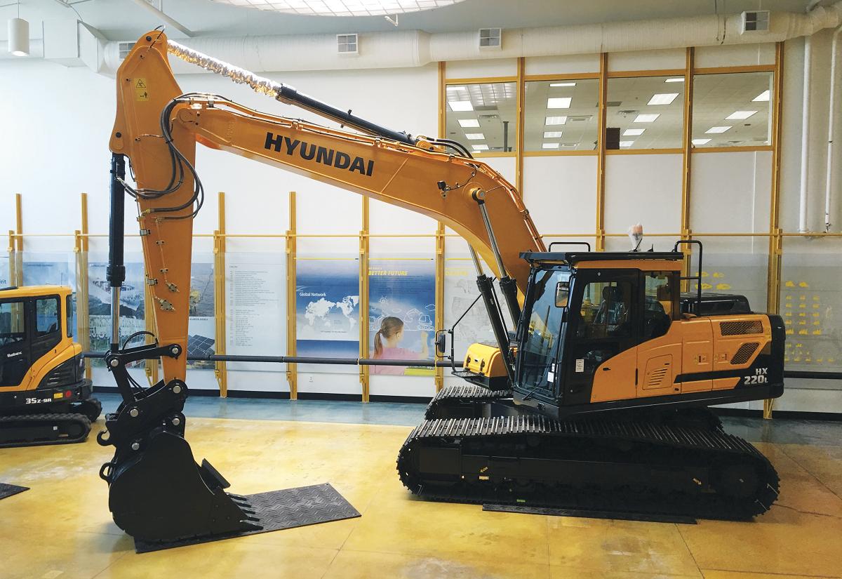 Hyundai HX220L Excavator Boasts Productivity & Safety Upgrades