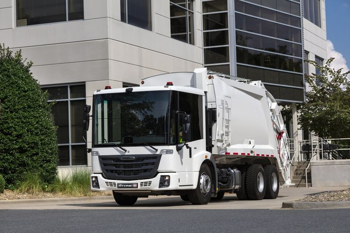 """Connected"" refuse vehicles are becoming more common, and Freightliner's EconicSD comes with a remote diagnostic service that provides insights into vehicle health and performance. - Photo: Freightliner"