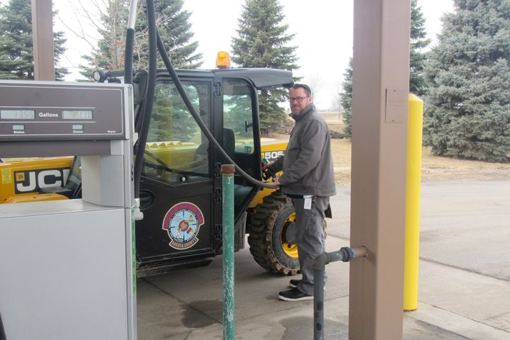 Fleet staff members worked with user departments to ensure minimal disruption of fueling services while the fuel management system was being implemented. - Photo: Dakota County