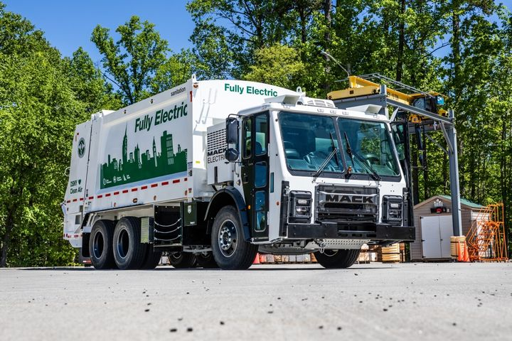 Electrification is one of the most talked-about subjects in the refuse industry, and Mack Trucks will be testing its Mack LR Electric with two customers later this year, including the New York City Department of Sanitation. - Photo: Mack Trucks