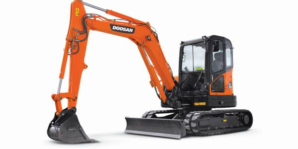 Doosan Introduces New DX62R-3 Mini Excavator