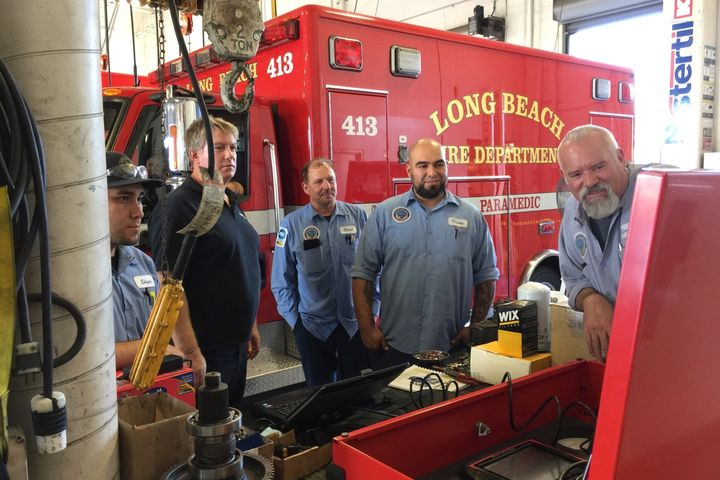 The City of Long Beach, Calif., offers about three training classes a month. The fleet bureau isn't sure what hands-on training will look like once sessions resume.  - Photo: Long Beach