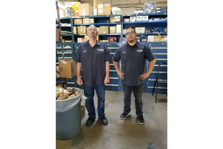 (L to R) Rick Brown and John Holland, fleet parts specialists for the County of San Joaquin, Calif.  - Photo:County of San Joaquin, Calif.