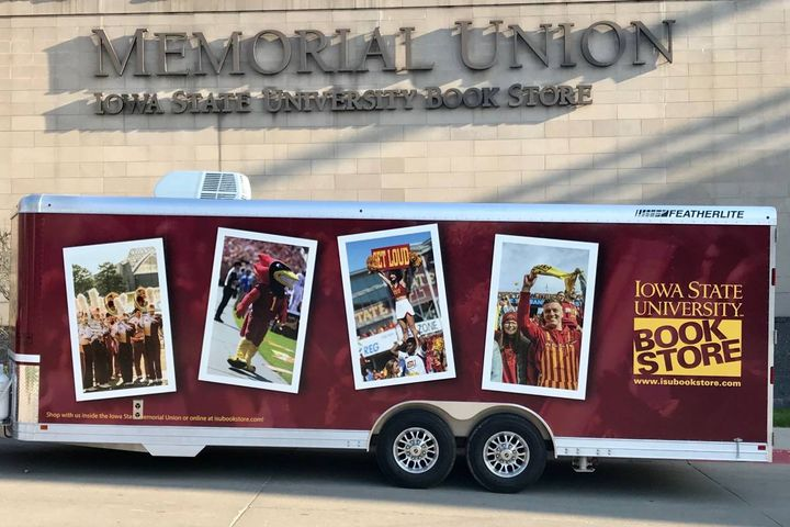 A wrapped book store trailer. - Photo: Kathy Wellik