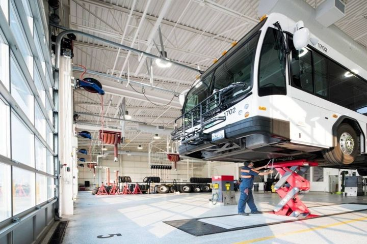 Facilities with lifts will find they're still adequate if vehicles are added with charging systems and batteries located on the underside. - Photo: HDR