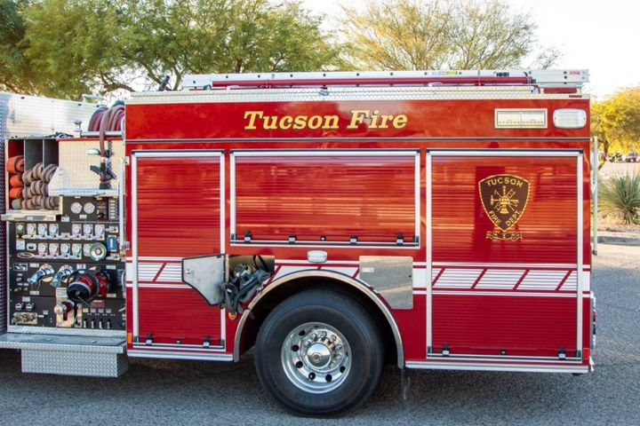 Firefighters are constantly exposed to carcinogens when responding to fire calls. One of the simplest ways Drake and his team have tried to help reduce exposure is by working with Pierce Manufacturing to remove self-contained breathing apparatus (SCBA) from the cabs of their fire apparatus when returning from a fire scene. - Photo:City of Tucson Fire Fleet Management Department