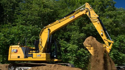 Caterpillar's 313 and 313 GC excavators include safety features such as the ability for users to...
