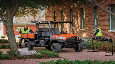 The ­Kubota RTV-X1140 ­converts from a four-passenger to two-passenger vehicle with an...