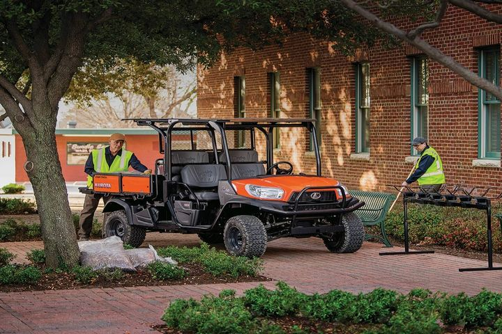 The Kubota RTV-X1140 converts from a four-passenger to two-passenger vehicle with an extra-large cargo bed and a high amount of cargo capacity. - Photo: Kubota