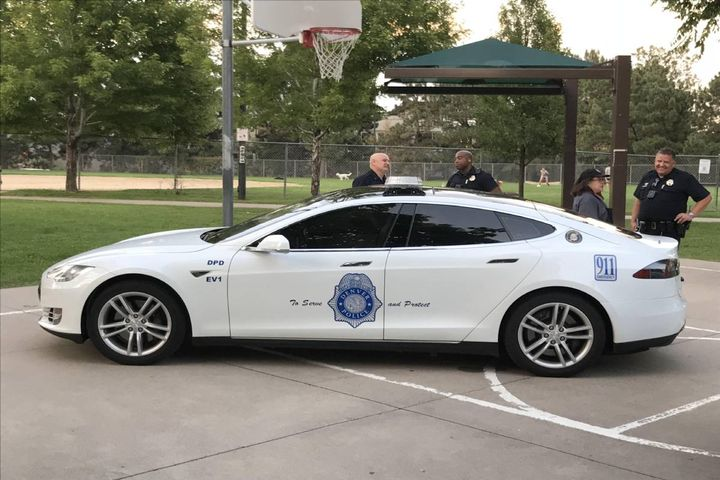 Brake said he is always keeping his ear to the ground in search of new technologies to reduce carbon emissions and the overall footprint of the city's fleet on the environment. - Photo: Denver Police Department