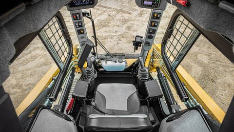 The Max-Series loaders feature improved visibility with more glass area in the cab.