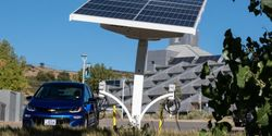 NREL expanded its fleet electric vehicle charging capabilities earlier this year with the installation of EV ARC 2020 (Electric Vehicle Autonomous Renewable Charger) on its campus in Golden, Colorado.