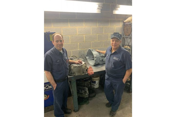 Prince George's County, Maryland's John Doherty (JD) and Karl DeMilo are pictured. Doherty managed an independent transmission shop for years and DeMilo is a GM-trained transmission technician. - Photo: Prince George's County, Maryland