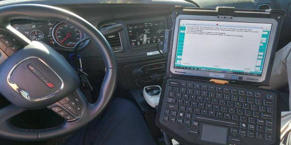 The department runs a full mobile computer-aided dispatch (CAD) system along with printer...