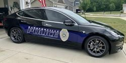 The Bargersville Police Department has four Teslas in its patrol fleet.