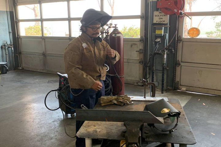 Results from a welding air fume test scenario indicated airborne exposures were well below Cal/OSHA Action Levels and Permissible Exposure Limits, and Fleet was able to do away with unnecessary specialized trainings and custom PPE fit testing. - Photo: City of Carlsbad, California