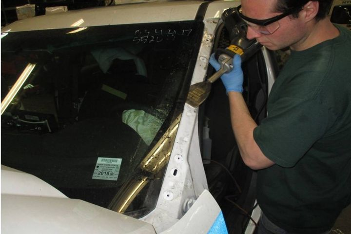 More than 600 pieces of glass were smashed and in need of replacement after the death of George Floyd. - Photo: NYPD
