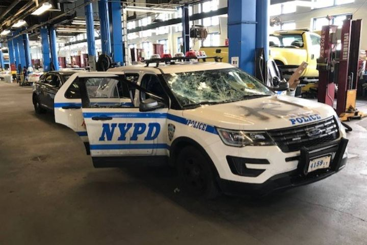 The department was hit heavily by the death of George Floyd. Khachadurian stated NYPD Fleet Services Deputy Director Richard Catalano had to deal with upwards of 375 vandalized vehicles during that time of civil unrest in May 2020. - Photo: NYPD