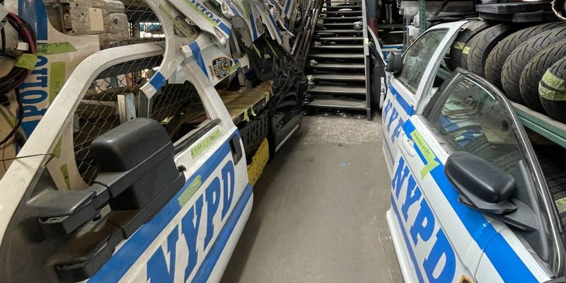 NYPD Fleet Services Deputy Director Michael Gorgia, who's responsible for the OEM parts the...