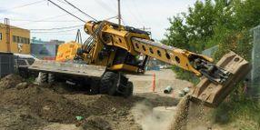 On/Off Highway Excavator Features Telescoping Boom