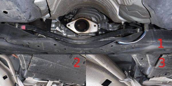 1) This is a photo of what the exhaust of a Prius looks like after the catalytic converter was...