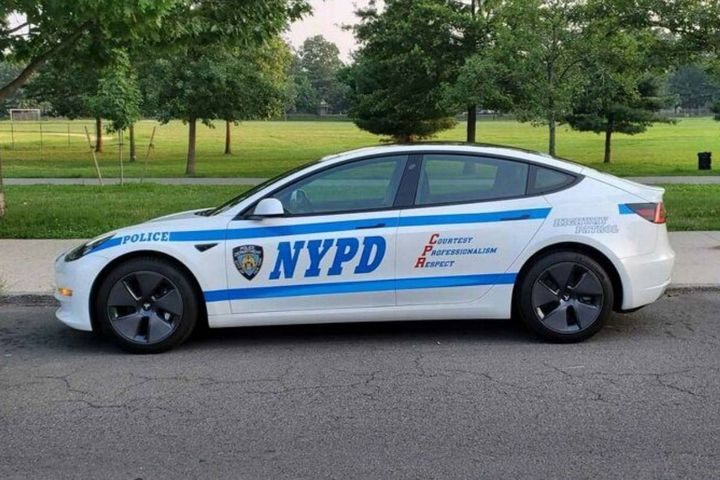 The New York City Police Department is currently piloting a Tesla Model 3, and has already found benefits in the form of upfitting and driver and citizen safety. - Photo: NYPD