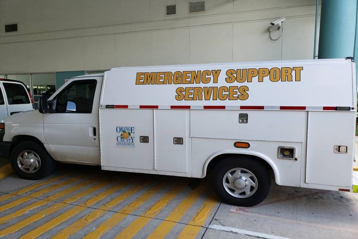Here is one example of the county's on-call service trucks  its rescue team uses to deploy laptops/hot spots. - Photo:Orange County, Florida