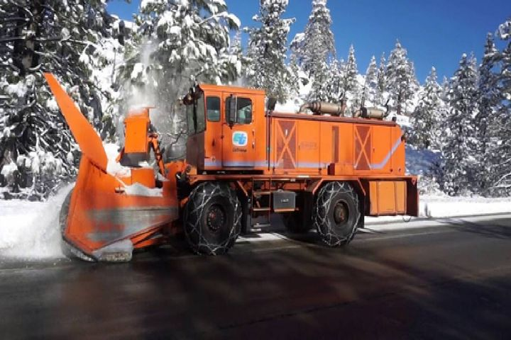 Here is one example of a City of Fairfield vehicle that does not yet have a zero-emission version available: an Oshkosh snowblower. - Photo: City of Fairfield