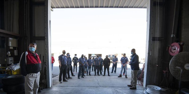 The Fleet Department had 26 students and staff from Traviss Technical College come out to the...