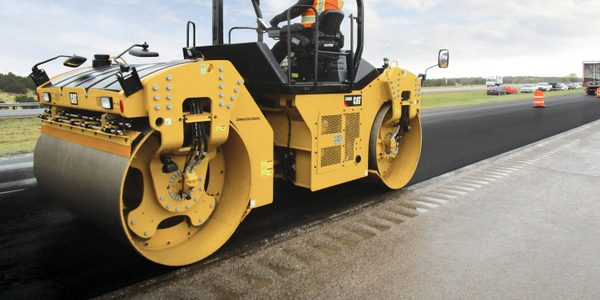 Caterpillar's B-Series roller uses global navigation satellite system positioning to correlate...