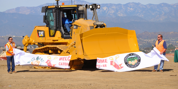 OC Waste & Recycling in California held a ribbon-cutting ceremony for its new Caterpillar D7E...
