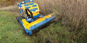 Flailbot Mower Handles Steep Grades with Ease