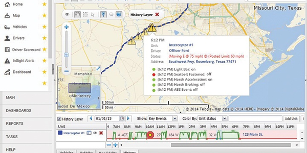 Screenshot of Telogis Ford Telematics courtesy of Telogis.