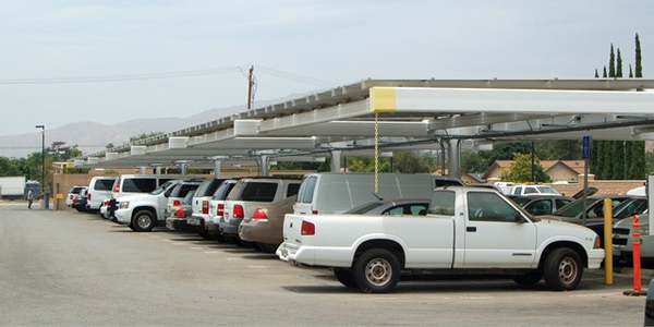 In addition to greening its vehicles, the county installed solar panels covering a portion of...