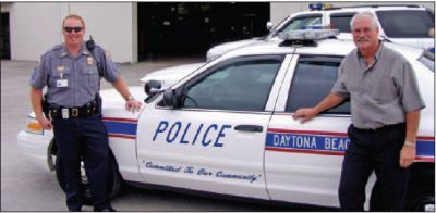 In addition to improved response rates, maintenance costs are reduced as part of a take-home vehicle program said Daytona Beach, Fla., Police Department Fleet Manager Jon Crull (right).  -