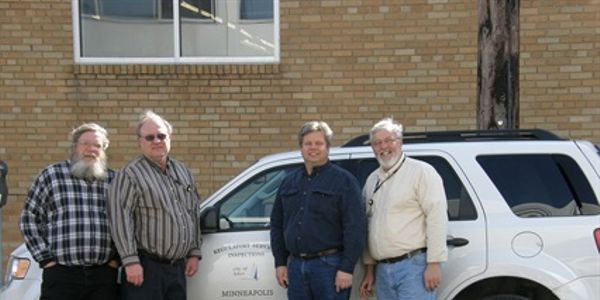 The City of Minneapolis Fleet Services division green team includes, l-r, Gary Dahl, Bill...