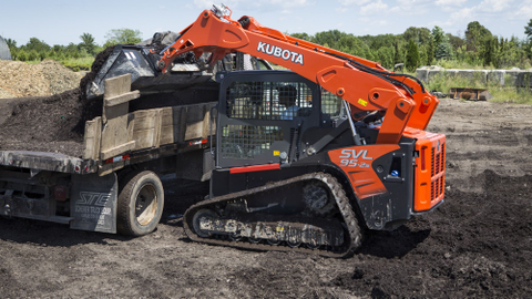 The Kubota SVL95-2s, with a 3,200-lb. rated operating capacity, has the versatility to handle...