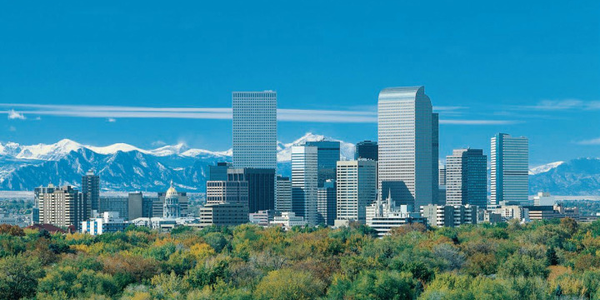Denver Skyline, home to the Government Fleet Expo & Conference 2009 .