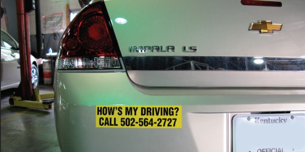 Bumper stickers helped boost Kentucky's driver safety, resulting in a savings of over $150,000...