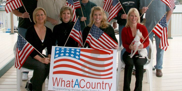 "Frank Morgan and his neighbors promote the ""What a Country"" veterans' support project, initiated..."