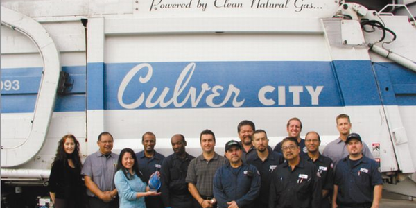 Led by Equipment Maintenance Manager Paul Condran (center), the Culver City Equipment...