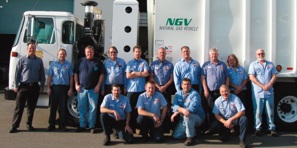 The City of Burbank, Calif., fleet team includes (back row, l-r) Craig Van Item, Rex Richardson,...